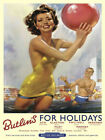 BUTLINS HOLIDAYS AYR CLACTON FILEY SKEGNESS VINTAGE STYLE METAL PLAQUE SIGN 417
