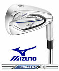 "New Mizuno Golf Irons JPX 900 HM Hot Metals Rifle Project X Steel +1"" Long 1* Up"