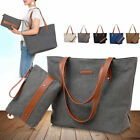 "Women's Casual Handbags Canvas Top-Handle Bag for 14"" Laptop Shoulder Tote Bags"