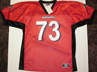 SOUTHEAST MISSOURI STATE REDHAWKS YOUTH FOOTBALL JERSEY NCAA #73 SM. OR L NEW!