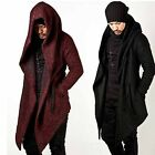 2017 Celebrity Mens Outwear Long Cape Cloak Korean Wool Top coat Hooded Jackets