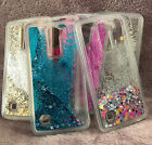 For LG Phoenix 2 / Escape 3 - HARD TPU RUBBER Glitter Liquid Waterfall Skin Case