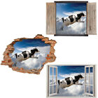 Window Wall Sticker Decal Vinyl 3D Flying Cow Animals Kids Funny home art room d