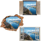 Window Wall Sticker Decal Vinyl 3D Nature Mountain Mountains View home art room