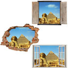 Window Wall Sticker Decal Vinyl 3D Pyramid Egypt History View home art room deco