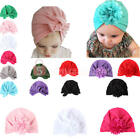 Newborn Baby Infant Girl Boy Toddler Soft Bowknot Flower Hospital Cap Beanie Hat