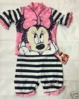 New Disney Minnie Mouse Primark girls 2 piece swim set swimming outfit
