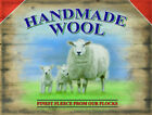 HANDMADE WOOL - FINEST FLEECE FARM SHEEP VINTAGE STYLE TIN SIGN METAL PLAQUE 51