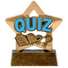 """3.25"""" Quiz Mini Star Trophy Award with FREE Engraving and optional gift box"""