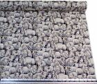 Sheep Rams Dog Black White 100% Cotton High Quality Fabric Material *3 Sizes*