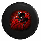 Black Widow Spider on Red Web - 3D Poisonous  Jeep RV Camper Spare Tire Cover