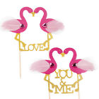 Novelty Pink Flamingo Cupcake Topper Cake Picks Stand Up Wedding Party Decor DIY