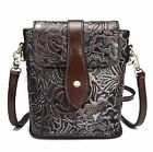 Vintage Women Genuine Leather Shoulder Bag Embossed cow leather Handbag Purse S