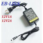 LOT AC DC 12V1A 2A Converter Adapter Charger Power Supply 5.5mm*2.5/2.1 US plug