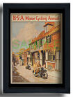 BSA Motor Cycling Annual for 1935 framed repro of front cover Mermaid Inn Rye