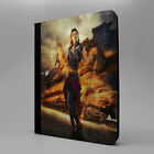 Steampunk Fire Girl Tablet Flip Case Cover For Apple iPad - S-T2698