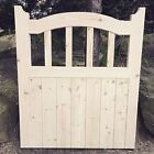 Bretton Wooden Cottage style Timber Arched Top Side Curved Garden Gate.