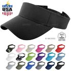 Visor Sun Plain Hat Sports Cap Colors Golf Tennis Beach Adjustable Summer