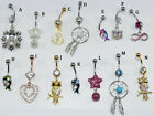 Fashion Dangle Belly Button Ring 14G Body Piercing Navel Barbell Jewelry