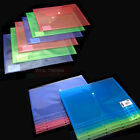 A4 Coloured Plastic Document Folder Button Stud Wallets and Ring Binder 12 Pack