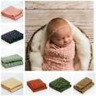 Newborn Baby Soft Cocoon Mohair Swaddle Wrap Blanket Headband Photography Props