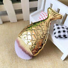 1Pc Portable Mermaid Makeup Foundation Powder Fishtail Bottom Brush With Cover
