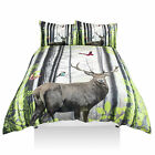 Forest Stag 3D Print Duvet Quilt Cover Bedding Bed Set with Pillowcases
