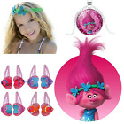 Girls Hair Accessories Movie Trolls Poppy Bobble Clip Clacks Kid Gift