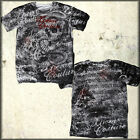 Xtreme Couture Toothache Skull Snake Ornate Script Letters Mens T-Shirt Tan NEW