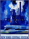 New York Central Railroad 1920 Industry Speed Vintage Poster Print Train Travel