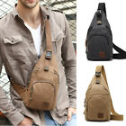 Men Canvas Sling Backpack Chest Pack Shoulder Backpack Daypack Single Strap bag