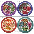 Ethnic Round Embroidered Tapestry Wall Hanging Table Cloth INDIAN Beach Throw