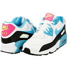 NIKE AIRMAX 90 GS TRAINERS WHITE BLUE PINK GIRLS WOMENS FITNESS LEISURE UK SIZES