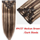 Premium Clip In Human Hair Extensions Remy 100% Real Human Hair Extensions B147