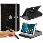 For Vodafone Tab Prime 6 (9.7 inch) Tablet Case 360 Rotating Stand Wallets + Pen
