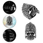 Fashion Vintage Men's Ring Skull Punk Titanium Steel Stainless Steel Ring