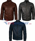 Antique Classic Style Waxed Motor Biker Leather Jacket For Men