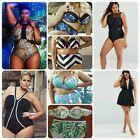 PLUS SIZE Women Lady Sexy Swimsuit Push Up Bikini Swimwear Beach Wear Monokini