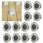 4 x SOLAR POWERED WHITE LED DECK STAINLESS STEEL LIGHTS PATIO DECKING OUTDOOR