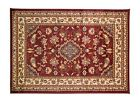 Red Sincerity Sherborne Traditional Hessian Backed Hard Wearing Rug 11 Sizes
