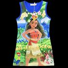 Girl's Moana Princess fancy party dress Size 3 to 10 years Soft Stretchy Cotton