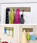 3/5 Wall Mounted Hooks Strong Stick Home Bathroom Door Hat Coat Clothes Towel