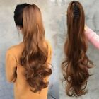 Soft Long Body Wave Claw Grip Chuck Ponytail 100% Real Human Hair Extensions