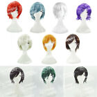 Anime Cosplay Short Hair Heat Resistant Wig Many Colors