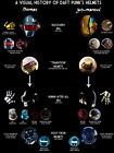 Daft Punk History of Helmets Electronic Duo HUGE GIANT PRINT POSTER, used for sale  China