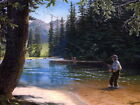 Fishing Rod Forrest Fisherman Beautiful Painting HUGE GIANT PRINT POSTER