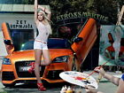 Mandy Lange Audi Hot Sexy Babe Woman Car HUGE GIANT PRINT POSTER