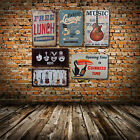 Retro Metal Tin Iron Signs Music & Wine Plaque Poster Home Pub Bar Club  Decor