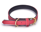 Genuine Leather Pet Collars for Dogs Cat Puppy W/Soft Padded PU Leather S M L