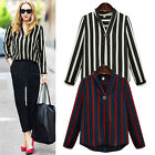 Plus Size Ladies Women's Long Sleeve OL Loose T-shirts Shirts Tops Top Tees New